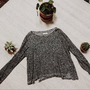 Madewell Cropped Gray Sweater
